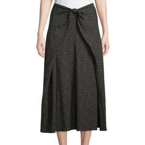 Vince Celestial Polka Dot Tie Front Skirt.NWT!